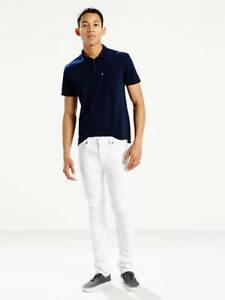 Levis Mens 511 1943 White Painter Stretch Slim Fit Leg Denim Jeans Size 31 x 30