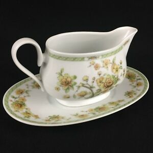 VTG-Gravy-Boat-and-Underplate-by-Noritake-China-Amapola-2764-Floral-Ireland