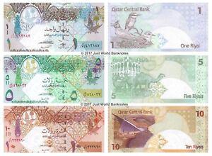 QATAR SET 2 PCS 1 5 RIYALS 2015 P 28 29 UNC