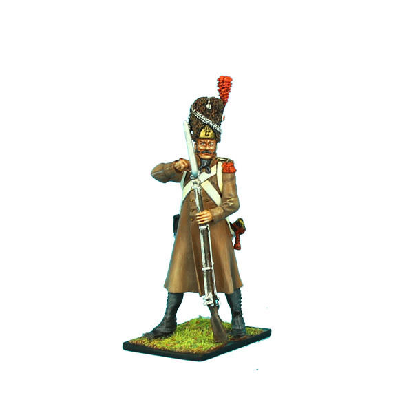 NAP0339 French 18th Line Infantry Grenadier Loading in Greatcoat by First Legion