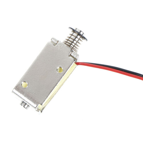12V DC suction micro electromagnet spring push pull type rod solenoid magnet /_Z6