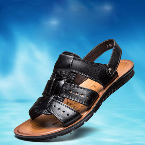 Summer Men/'s Sandals Casual Beach Sports Flats Leather Shoes Slipper Breathable