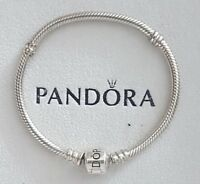 NEW Genuine Silver Pandora Barrel Clasp Moments Charm Bracelet 590702HV - RRP£55