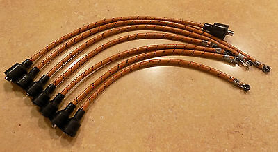 Copper Core Coil 7mm Cloth Covered Spark Plug Wire Set Vintage Wires Inline 6 Gr