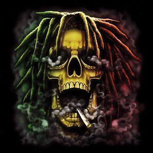 Beau sweat shirt noir rasta skull tete mort s m l xl xxl xxxl xxxxl ebay - Dessin de rasta ...