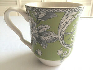 222-Fifth-Adelaide-in-Green-Flowers-Branches-Bird-Mug-is-4-5-034-Tall