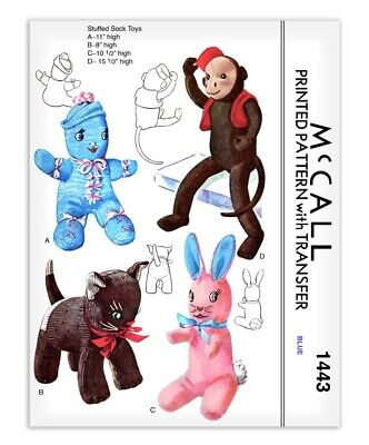 Cat Doll Sock Monkey Sewing Pattern