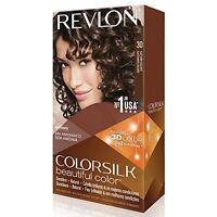 4 Pack Revlon Colorsilk Beautiful Permanent Hair Color (30) Dark Brown on sale