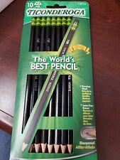 New 10 Black Dixon Ticonderoga 2 Hb Wood Pencils Lot 10 Count Sharpened 13915