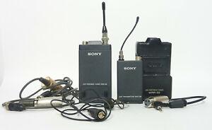Sony-Portable-WRT-28-amp-WRR-28-UHF-Wireless-Microphone-System