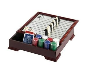 Horse Racing Checker Game Wooden Storage Magnetic Pieces Deck Of