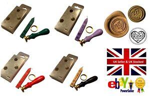 Wax-Seal-Starter-Kit-Filigree-Love-Heart-various-cols-wax-stamp-sealing-set-115