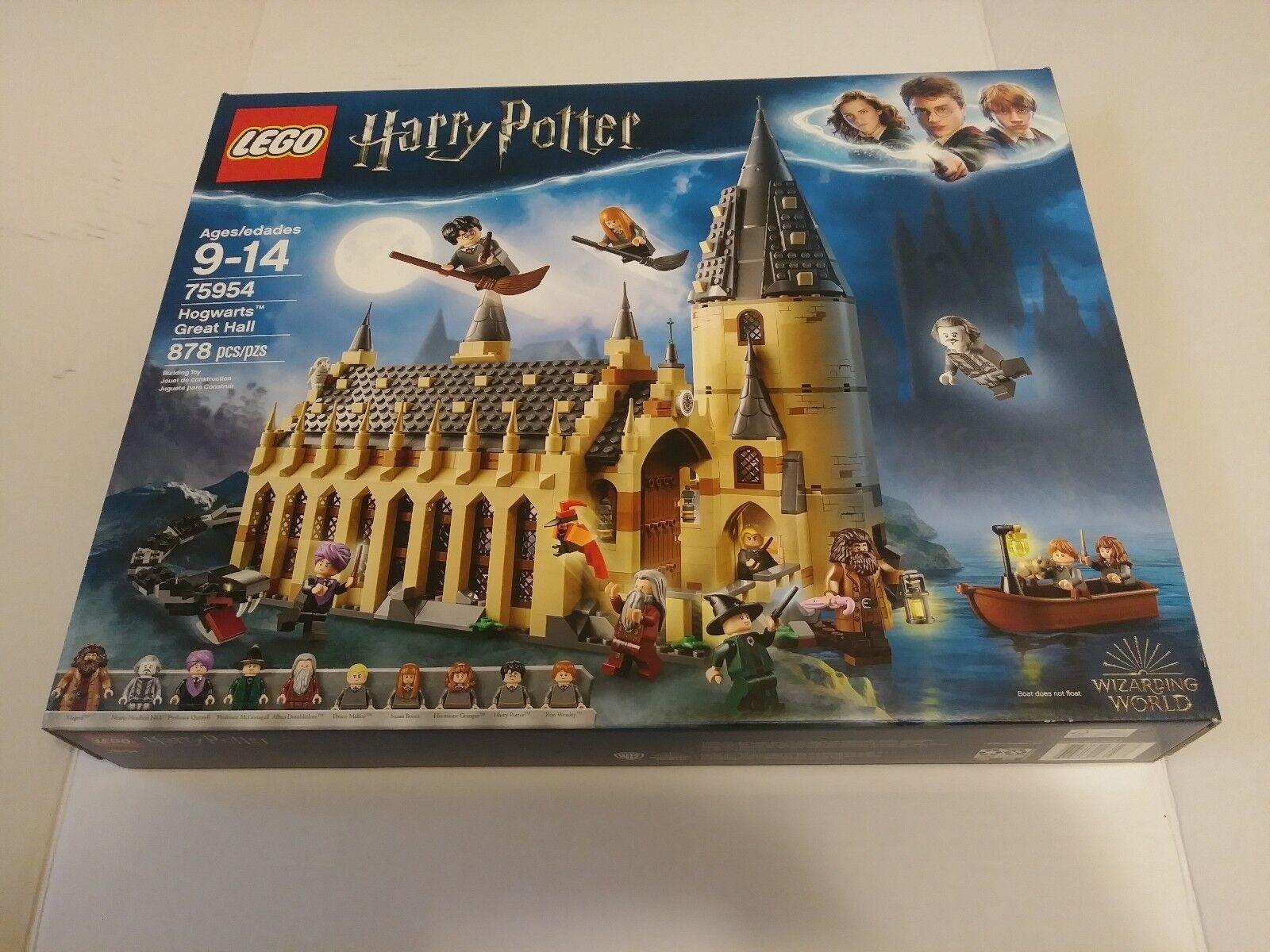 LEGO 75954 Harry Potter Hogwarts Great Hall Wizarding World World World 878 Pieces New 2018 3b0618