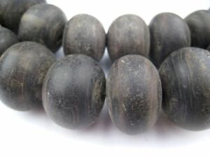 Natural Round Horn Beads 8mm Brown 20 Inch Strand