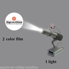 Hotsale 20W LED Rotating Gobo Advertising Logo Projector Light + Two Color Film