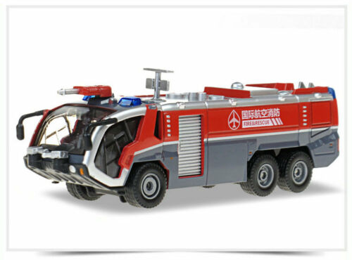 1:50 Scale Alloy Simulation Airport Water Cannon Firetruck Sound-Light Car Model