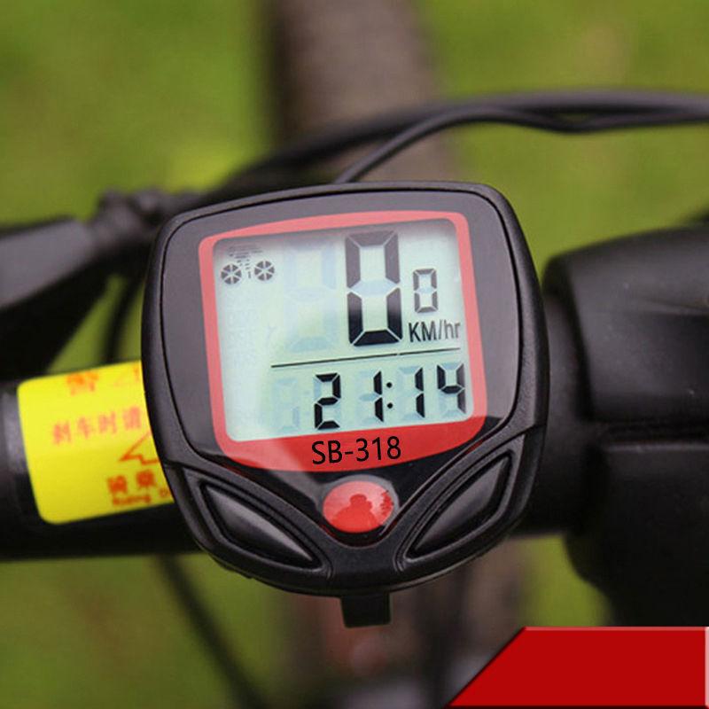 Kilometerzähler Geschwindigkeitsmesser Fahrrad Digital 15 Funktionen Computer