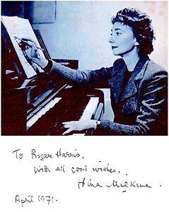 RUSSIAN Pianist NINA MILKINA Original SIGNED AUTOGRAPH + PHOTO +