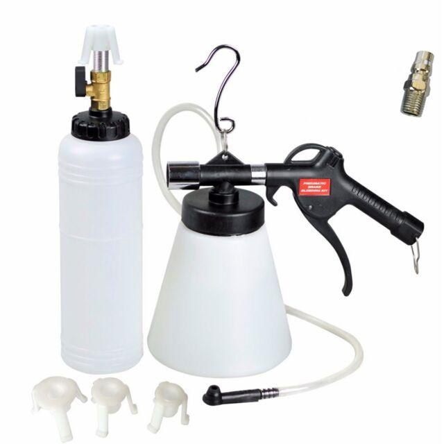 1L Air Pneumatic Brake Clutch Fluid Tool Master Cylinder Adapters 6-12 bar