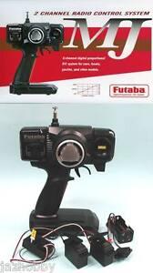 Futaba-2PHKA-MJ-RC-Car-2Ch-AM-Radio-Control-System-Transmitter-Receiver-Servo-x2