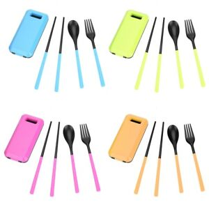 Outdoor-Portable-Safe-Travel-Picnic-Camping-Chopsticks-Spoon-Fork-Tableware-Set