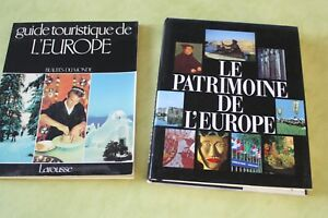 lot-de-2-livres-le-patrimoine-de-l-039-europe-guide-touristique