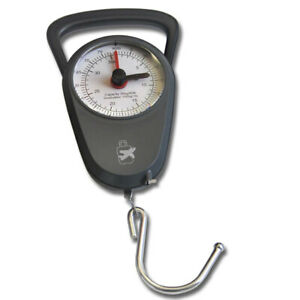 Sansai Mechanical Luggage Weight Scale 35kg Weigh Capacity/1m Tape Measure Grey