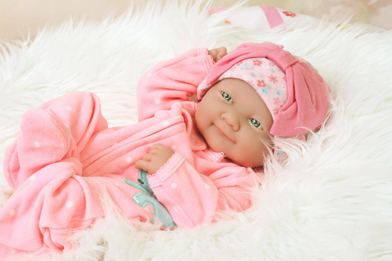 Nuevo  Preemie Berenguer Newborn Bebé Muñeca Vinilo Silicona Hecho a Mano Happy