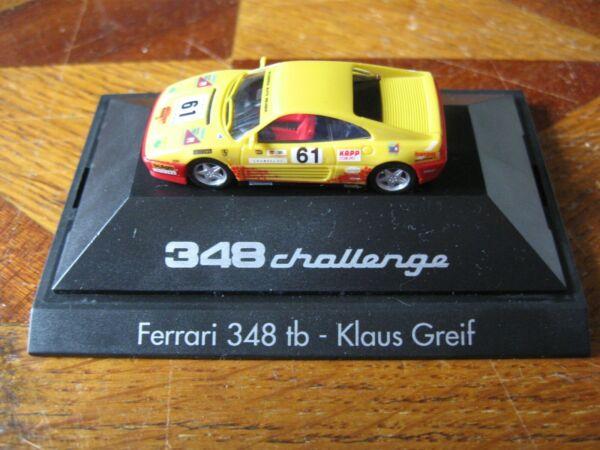 Professionele Verkoop Ferrari 348 Tb Challenge Herpa 1/87 Klaus Greif Scuderia Neuser Neuve En Boîte