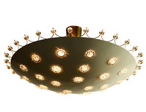Decken Leuchte Emil Stejnar für Rupert Nikoll Blüten & Perlen Lampe Vintage 50er