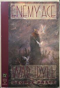 Enemy-Ace-War-Idyll-George-Pratt-TPB-1991-1st-print-DC-Comics-Painted-Book