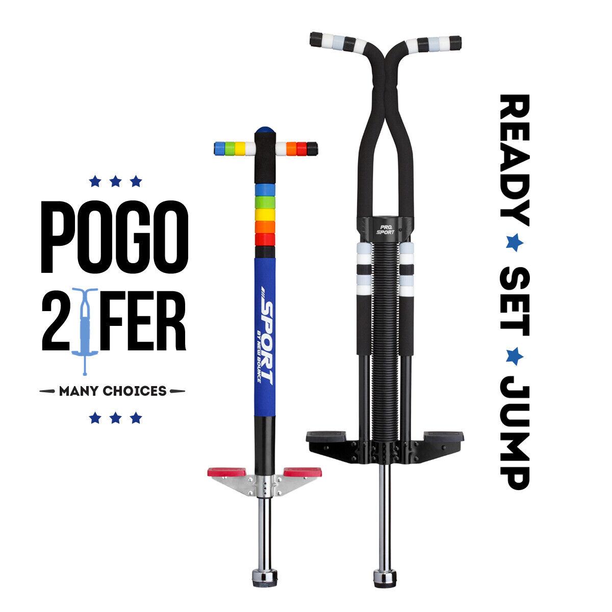 Nuevo paquete de 2 de rebote Combo de silicio de fácil Agarre Anillo Sport Pogo palo y Pro Sport