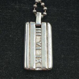 aef366705 Tiffany & Co. SS 925 Atlas Collection Roman Numeral Pendant Necklace ...