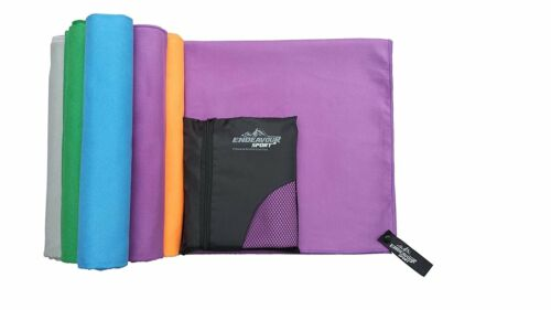 Antibacterial Microfibre Sports Travel Towels with Free Carry Bag Quick Drying