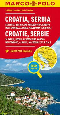 Cartina Slovenia Croazia Bosnia.Croazia Serbia Slovenia Bosnia Montenegro Carta Stradale 1 800 000 Marco P Ebay