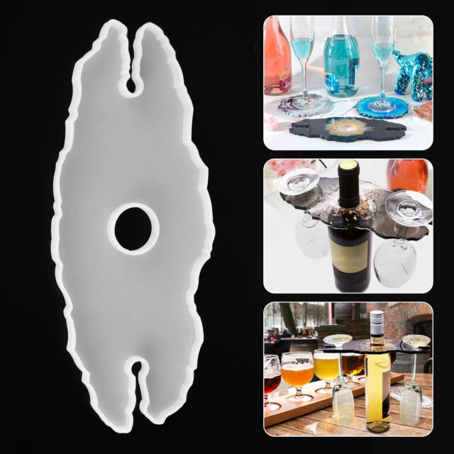 Silicone Wine Glass Holder Resin Casting Molds Cup Coaster Epoxy Mould Tool