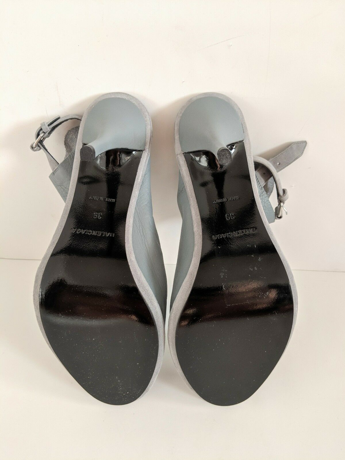 c124fd04e ... Balenciaga Grey Leather Mules Size 39 New New New With Box 87dfd4 ...