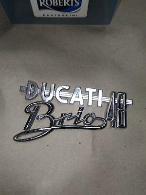 Apprensivo Ducati Brio Nuova Scritta Logo Nuovo Dell'epoca - Distintivo Per Le Sue Proprietà Tradizionali