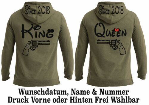 Look Xs amis Love Meilleurs Motiv King partenaire Hoodie Pullover One Queen 3xl Top C4XxqwpB