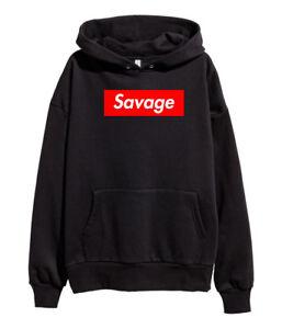 6a2268e1a134 21 Savage Red Box Logo Hoodie Hip Hop Rap Sweatshirt Esskeetit merch ...