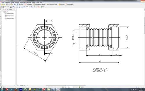 "3//4/"" IG Solaire Collecteur connecteur Capacitor solaire tuyau chauffage plomberie dn20"