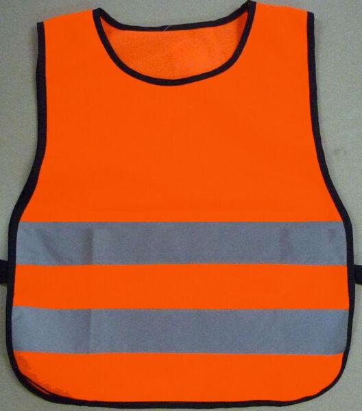 Arancione Bambino Sicurezza Riflettente Sport Bavaglino Gilet Tabard Bambini Giacca Hiviz S M L Essere Altamente Elogiati E Apprezzati Dal Pubblico Che Consuma
