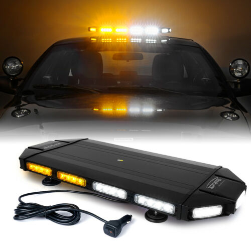 "Xprite Black Hawk 27/"" Top Roof Strobe Light Bar Amber White LED Law Enforcement"