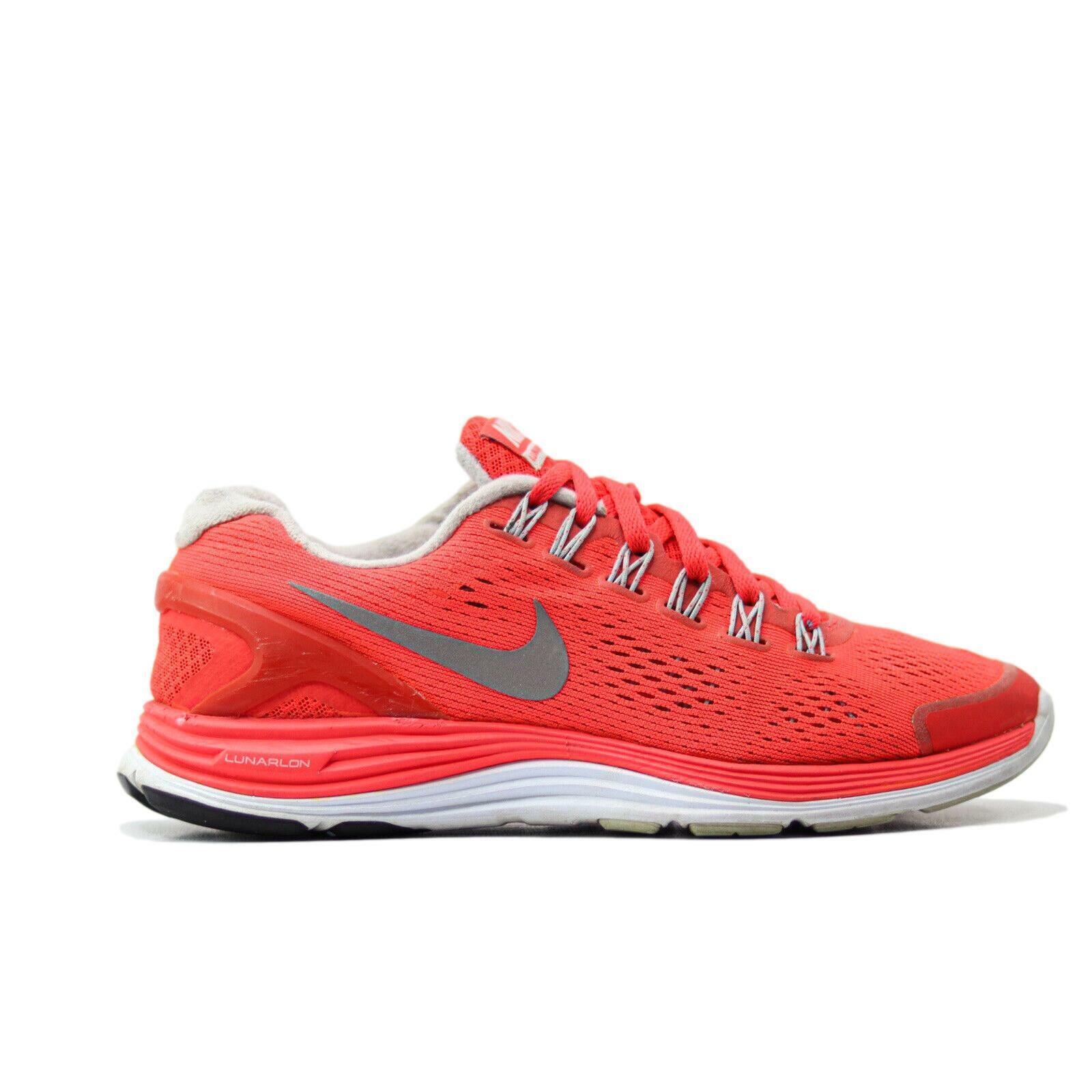 Nike Lunar Glide 4 Femme Taille 7 Chaussures De Course Crimson argent (524978-604)