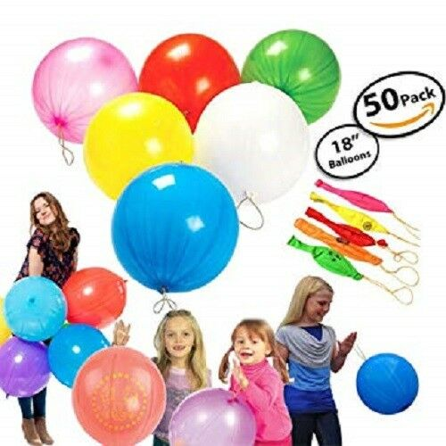 50 Large PUNCH BALLOONS Party Bag Filler Birthday Childrens Loot Bag Toy Kids UK