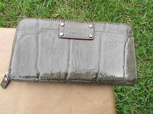 Kate Spade Knightsbridge Green Grey Embossed Patent