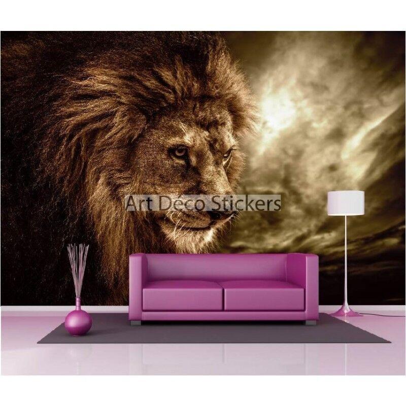 Stickers muraux 1627 géant déco : Tête de lion 1627 muraux fefb71