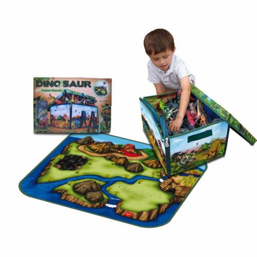 Oh Dinosauro Medium Playset Storage tappeto di gioco Figura Colorato Bambini Portatile LISCIO