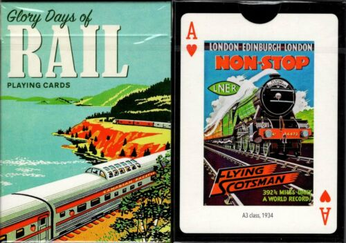Glory Days of Rail Playing Cards Poker Size Deck Piatnik Cus Limited Edition