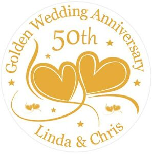 Golden-50th-Wedding-Anniversary-Cake-Topper-Personalised-Golden-Wedding-Icing